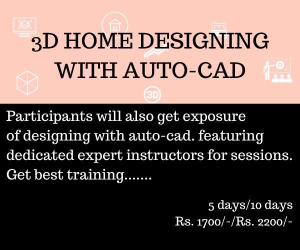 3D Home designing with auto cad